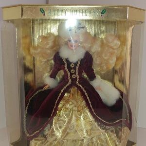 1996 Happy Holidays Barbie Doll NIB